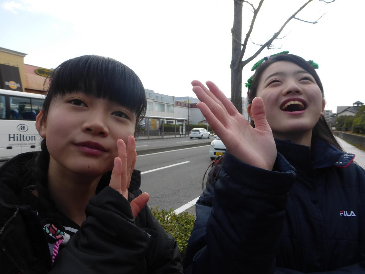 今日は「おっしょい!」のMV撮影よ!さよーでございますわねおほほほほ(左:有彩/右:愛)