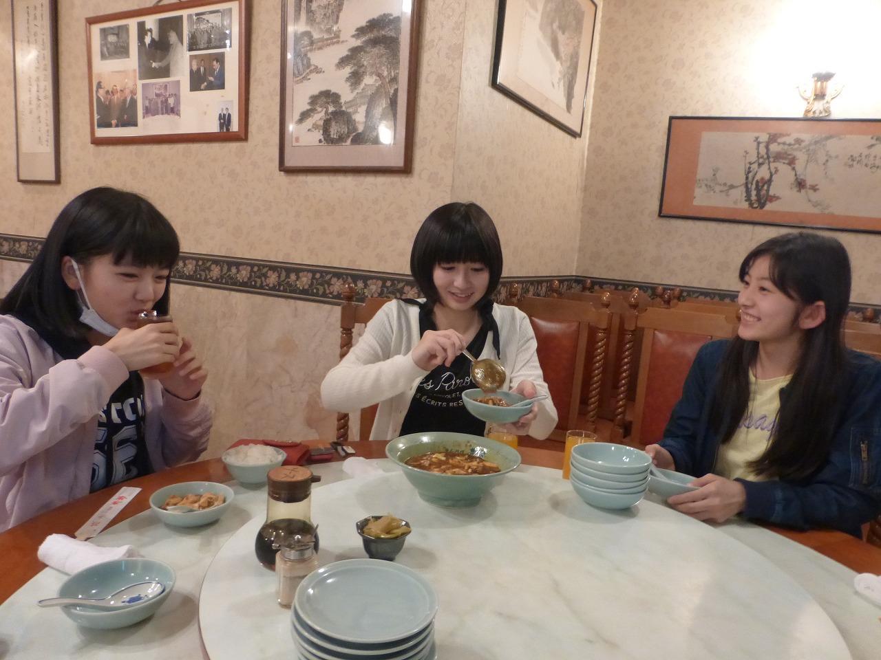 長崎前のり組は食事を満喫!(理子/きいな/さくら)