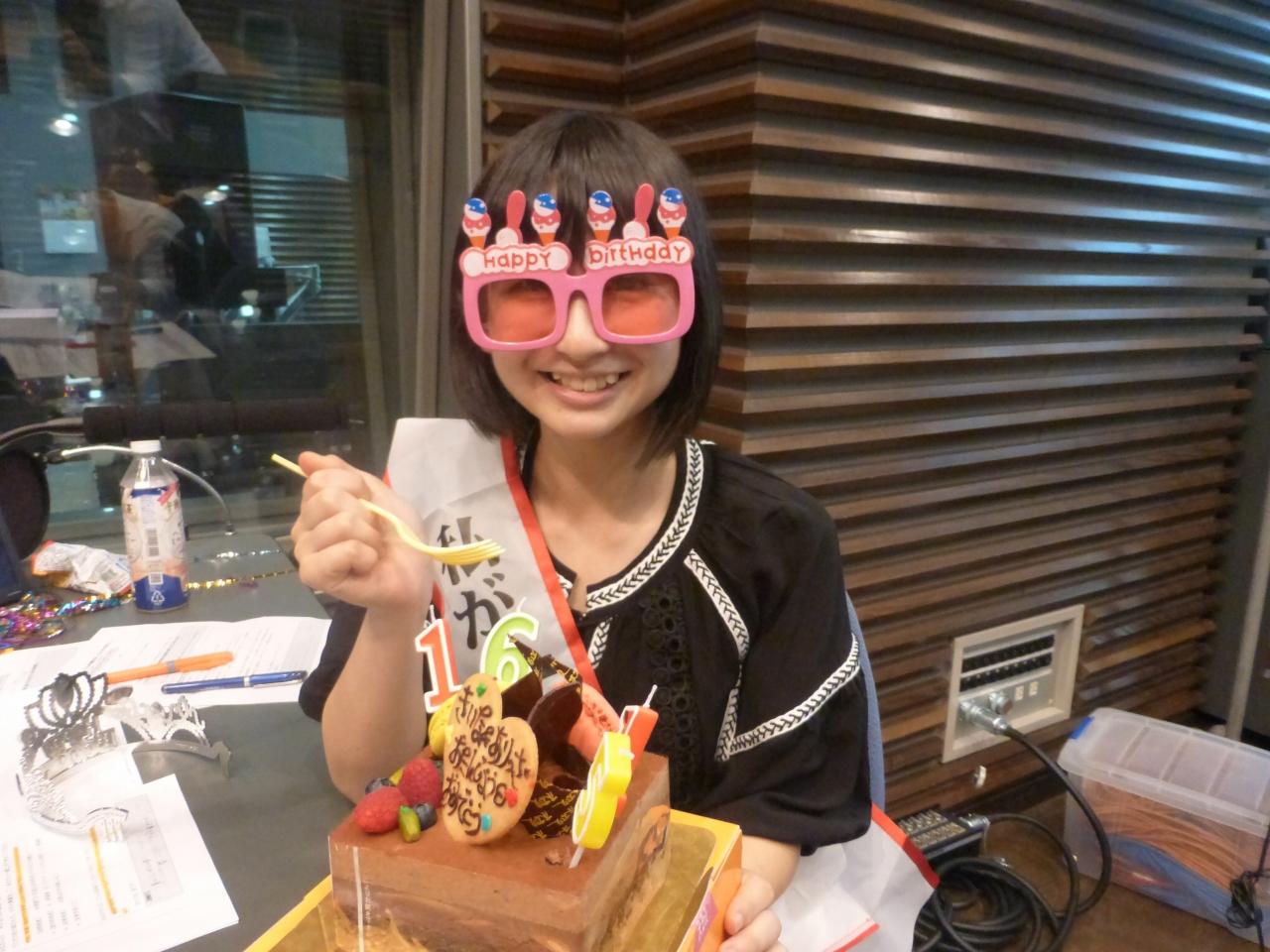 最後はラジオ収録時、誕生日をお祝いしてもらった浮かれきいなでお別れです。(きいな)