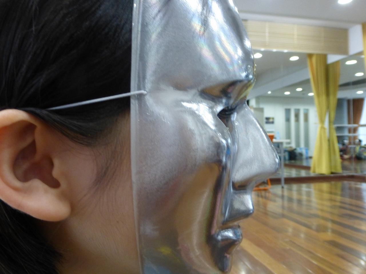 イベントで使用した仮面。はみ出ている睫毛を見たら、誰だか一目瞭然ですね(きいな)