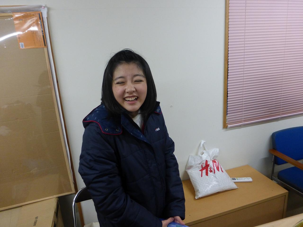 イベント終了後、この日大胆にしりで餅をついた上田氏・・・笑いが止まりません(理子)