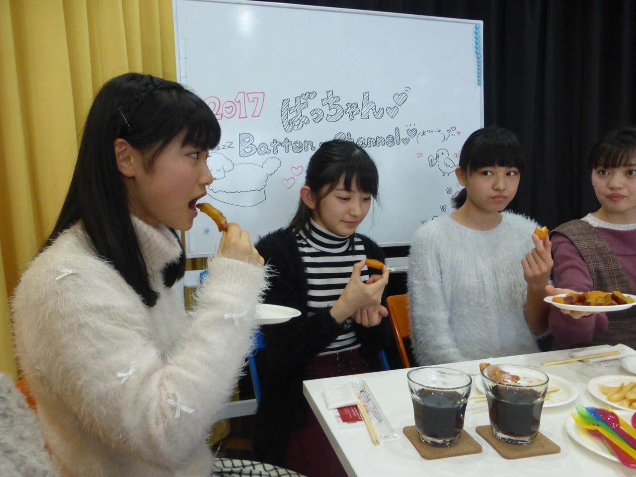 Ustreamはお昼ご飯を食べながら。(有彩/さくら/蒼良/愛)