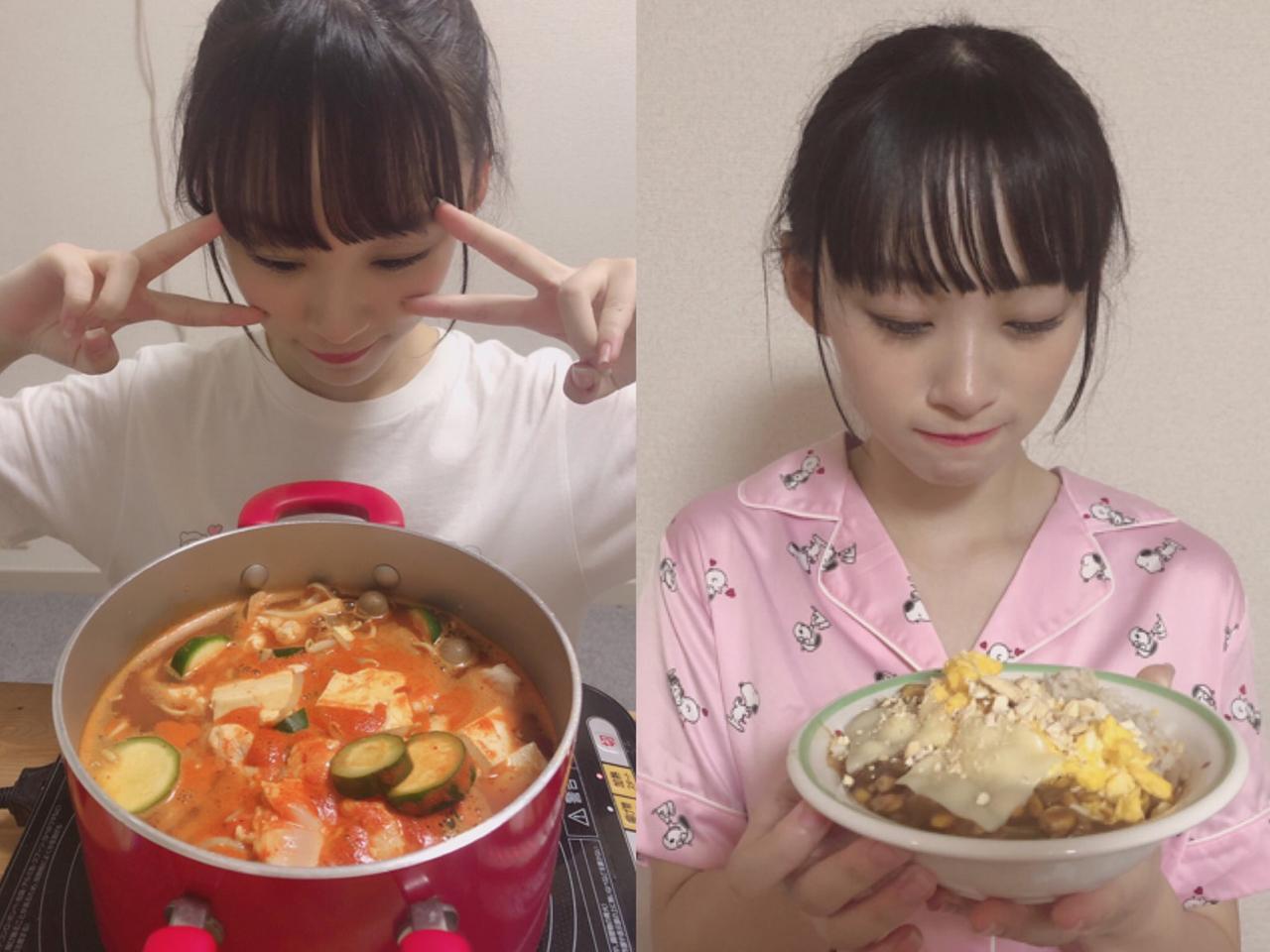 莉沙とキムチ鍋&莉沙とキーマカレー丼🍲🍛