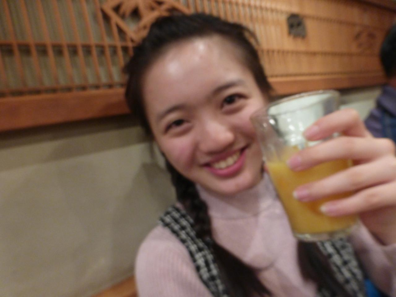 田舎娘2ndツアーの打ち上げは一足早めの大阪終了後に。ご機嫌愛ちゃん。(愛)
