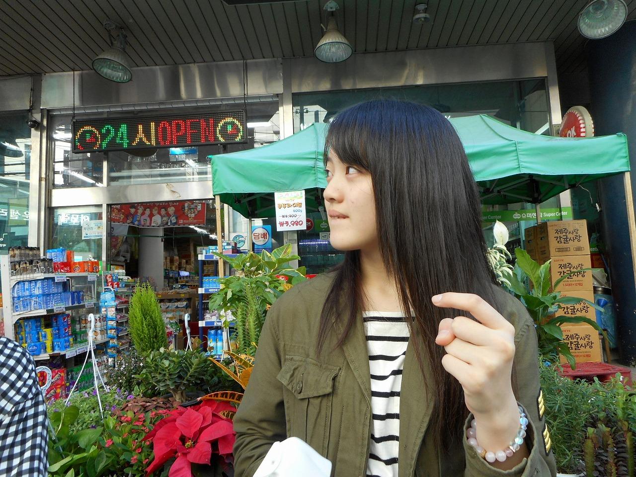 釜山でお買い物をする私、オ・ト・ナ(愛)