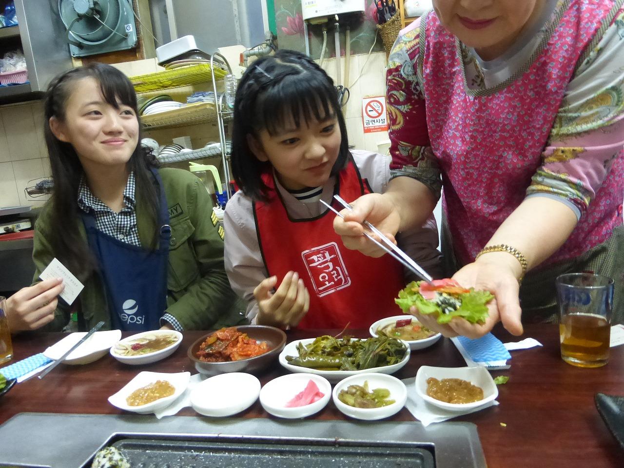 釜山での夕食は大満足!(愛/理子)