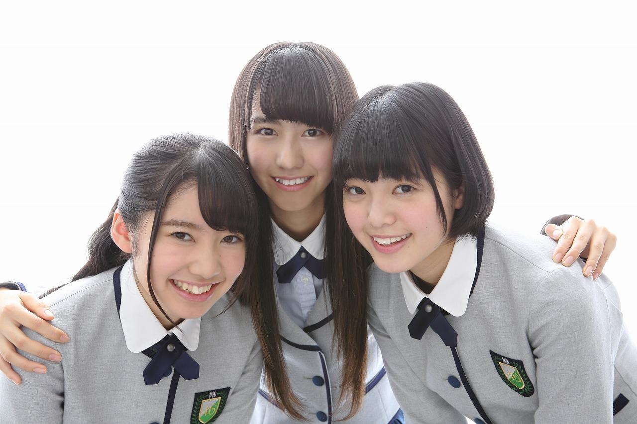 写真左から米谷奈々未(パー)、土生瑞穂(チョキ)、平手友梨奈(グー)で決定