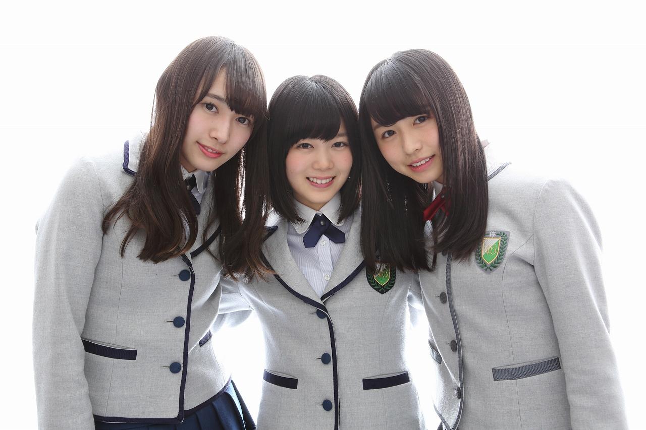 写真左から渡辺梨加(わたなべ・りか)、尾関梨香(おぜき・りか)、長濱ねる(ながはま・ねる)のユニット名「クレイジーズ」